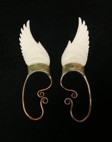 Wing Ear Cuff - Bone - Small