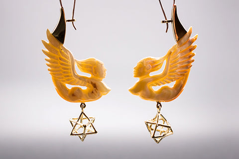 Dewi Earrings - Light Mother of Pearl