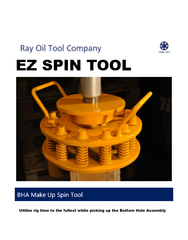 Drill Floor EZ Spin BHA make up tool, oilfield bottom hole assembly thread stab in make up spin tool