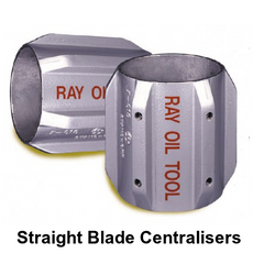STRAIGHT BLADE CASING CENTRALISER CENTRALIZER
