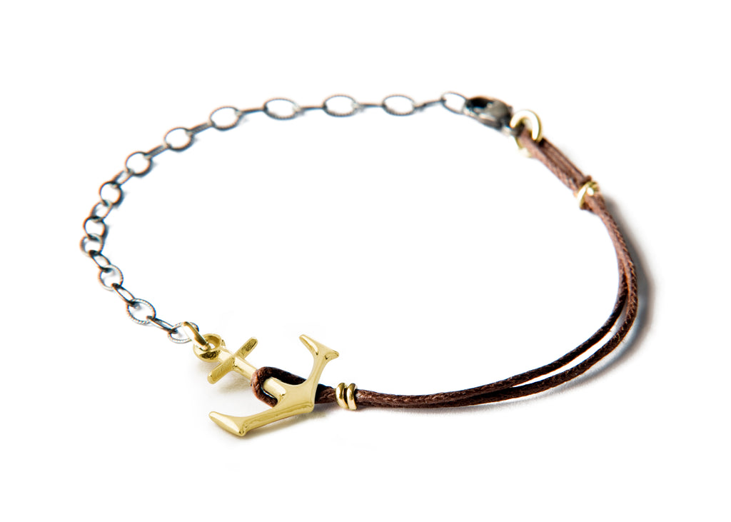 Anchor Bracelet - Small gold anchor