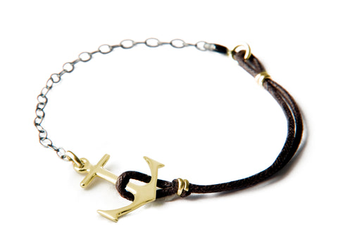 Anchor Bracelet - Big gold anchor