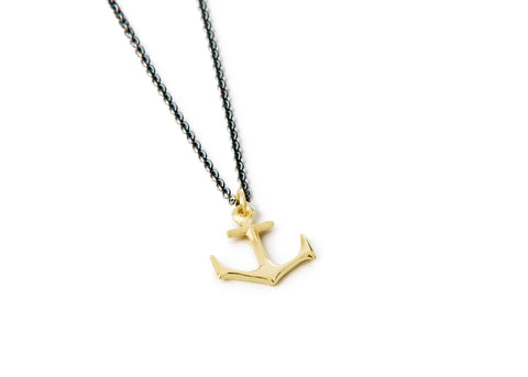 Anchor Necklace - Small gold anchor