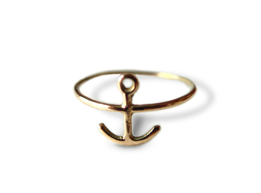 Anchor Midi Ring - Gold