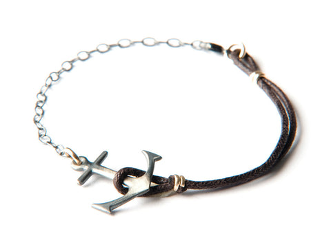 Anchor Bracelet - Big silver anchor