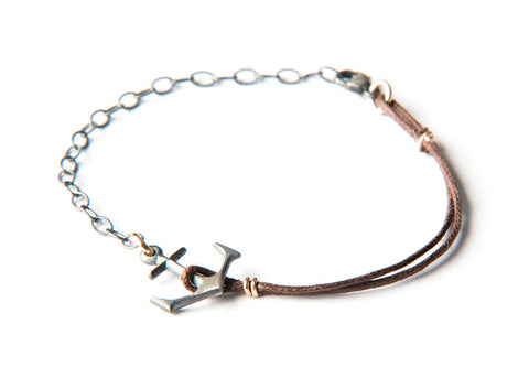 Anchor Bracelet - Small silver anchor