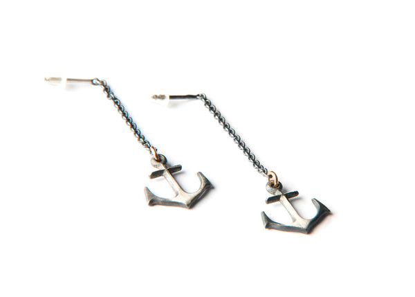 Anchor Earring - Silver
