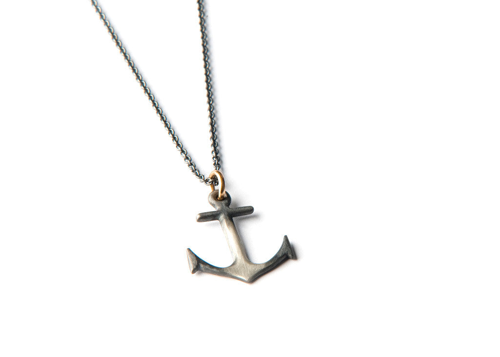 Anchor Necklace - Big silver anchor