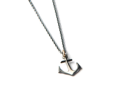 Anchor Necklace - Small silver anchor