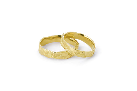 Braid Wedding Ring - Gold thick braid