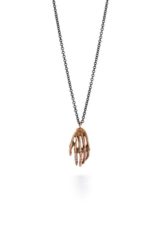 Milagros - necklace - bronze hand