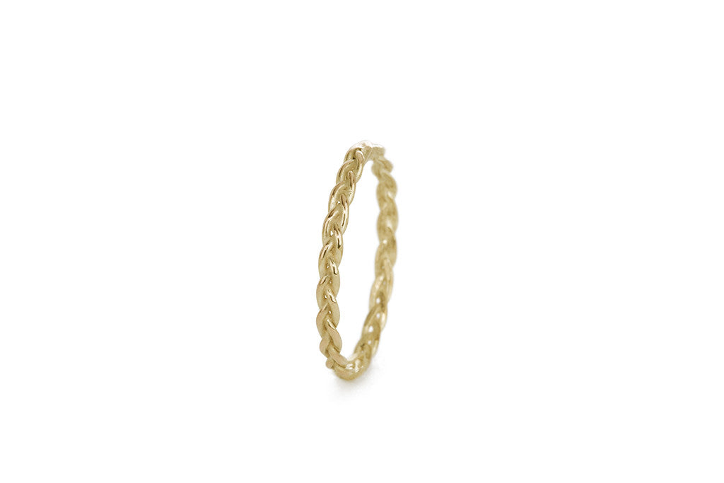 Braid Midi Ring - Gold rope braid