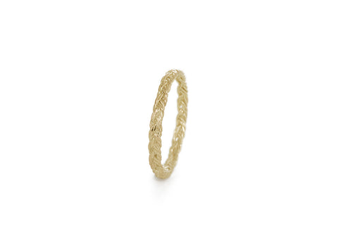 Braid Midi Ring - Gold flat braid