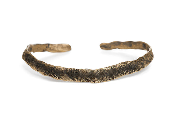 Braid Bracelet - Thick bronze braid