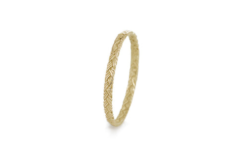 Braid Ring - Gold flat braid