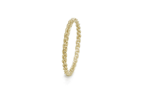Braid Ring - Gold rope braid