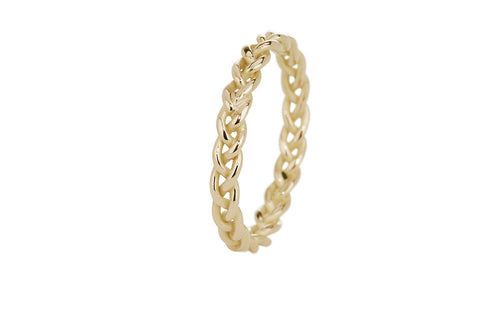 Braid Ring - Gold thick rope braid
