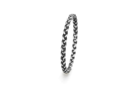 Braid Ring - Silver rope braid