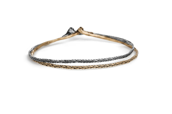 Braid Bracelet - Thin silver braid