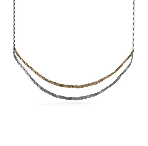 Braid Necklace - Double thin braid