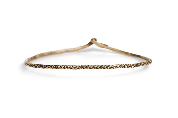 Braid Bracelet - Thin bronze braid
