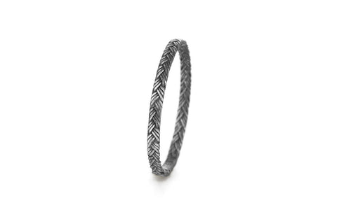 Braid Ring - Silver flat braid
