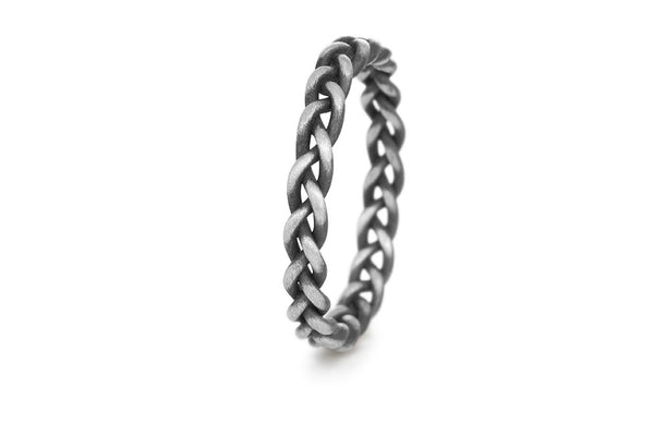 Braid Ring - Silver thick rope braid