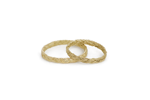 Braid Wedding Ring - Gold flat braid