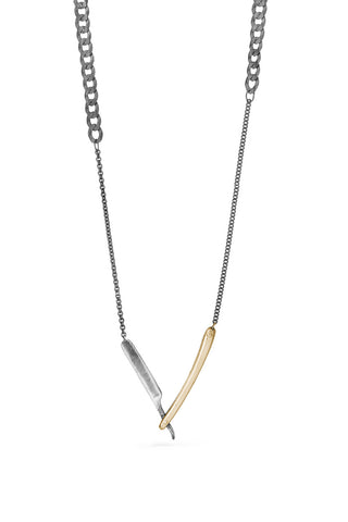 Tools - Straight Razor Necklace