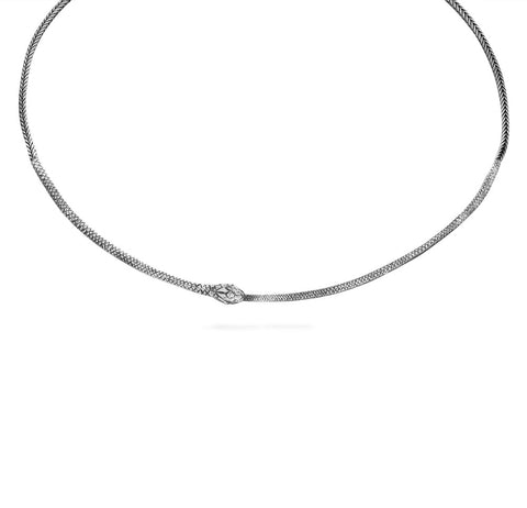 Ouroboros necklace - silver snake