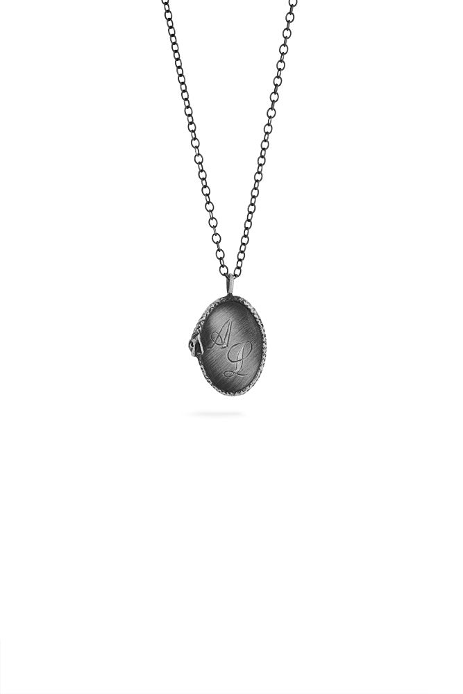Ouroboros necklace - big silver signet