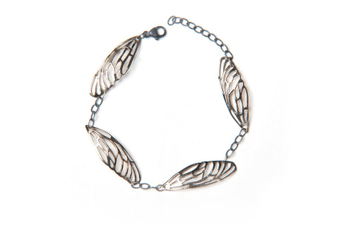 Scarab Bracelet - bronze wings
