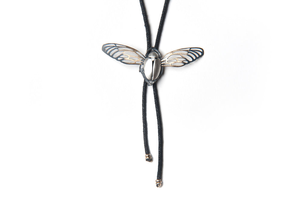Scarab Bolero -Silver beetle and bronze wings