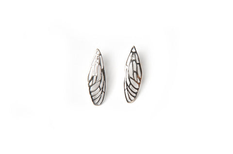 Scarab Earrings - bronze wings