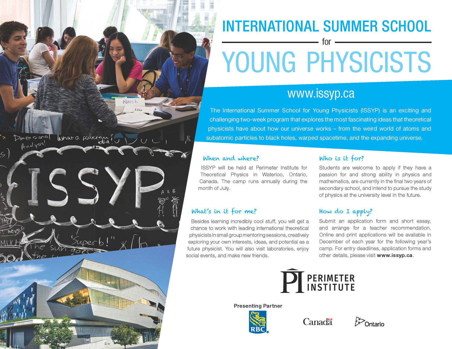 International Summer School for Young Physicists (ISSYP)