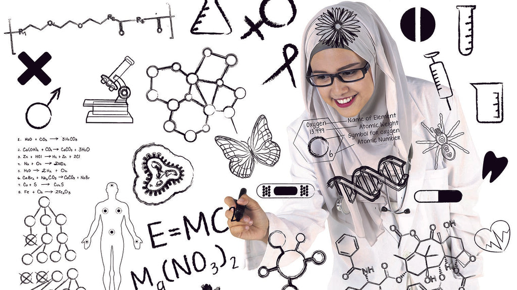 Image of woman doing calculations