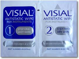 Algas Visial Anti-Static Instrument Wipes - Real Clean Products