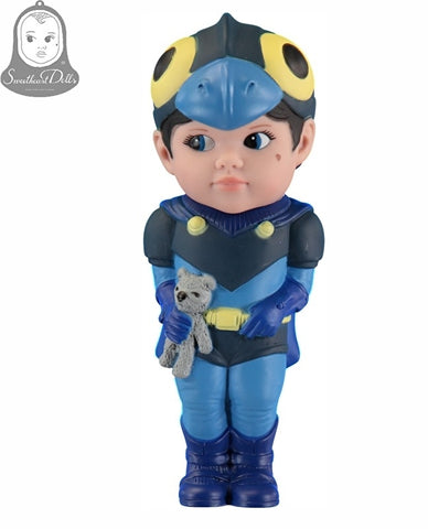 Sweetheart Boy Superhero Doll Grey Bear - Eva Newton
