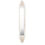 White Washed Mirror with Gold Finish