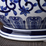 Blue and White Porcelain Grand Vase