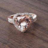 The Look of Love Morganite Heart Ring