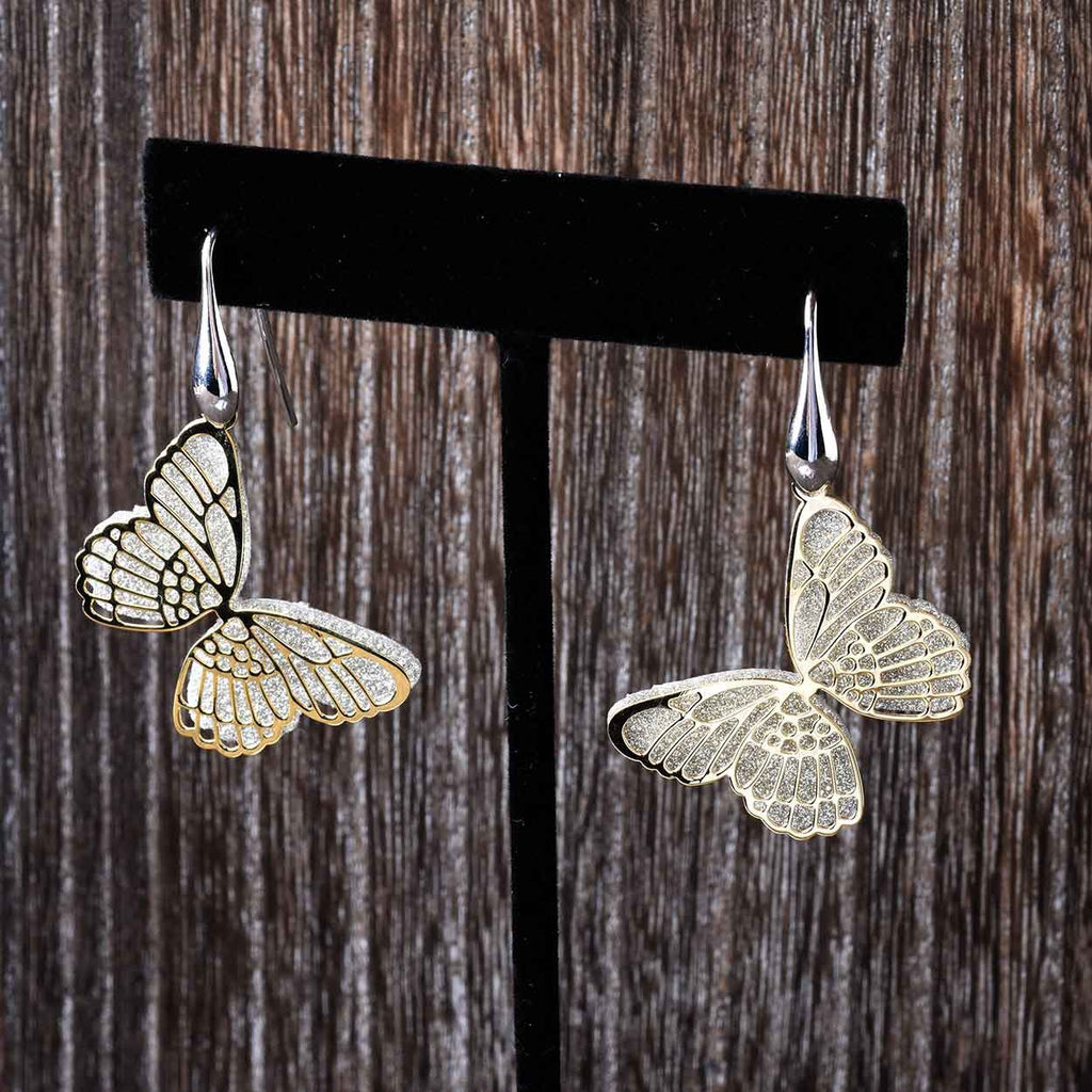 Sparkling Butterfly Earrings