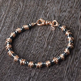 Hematite Bead with Rings Bracelet
