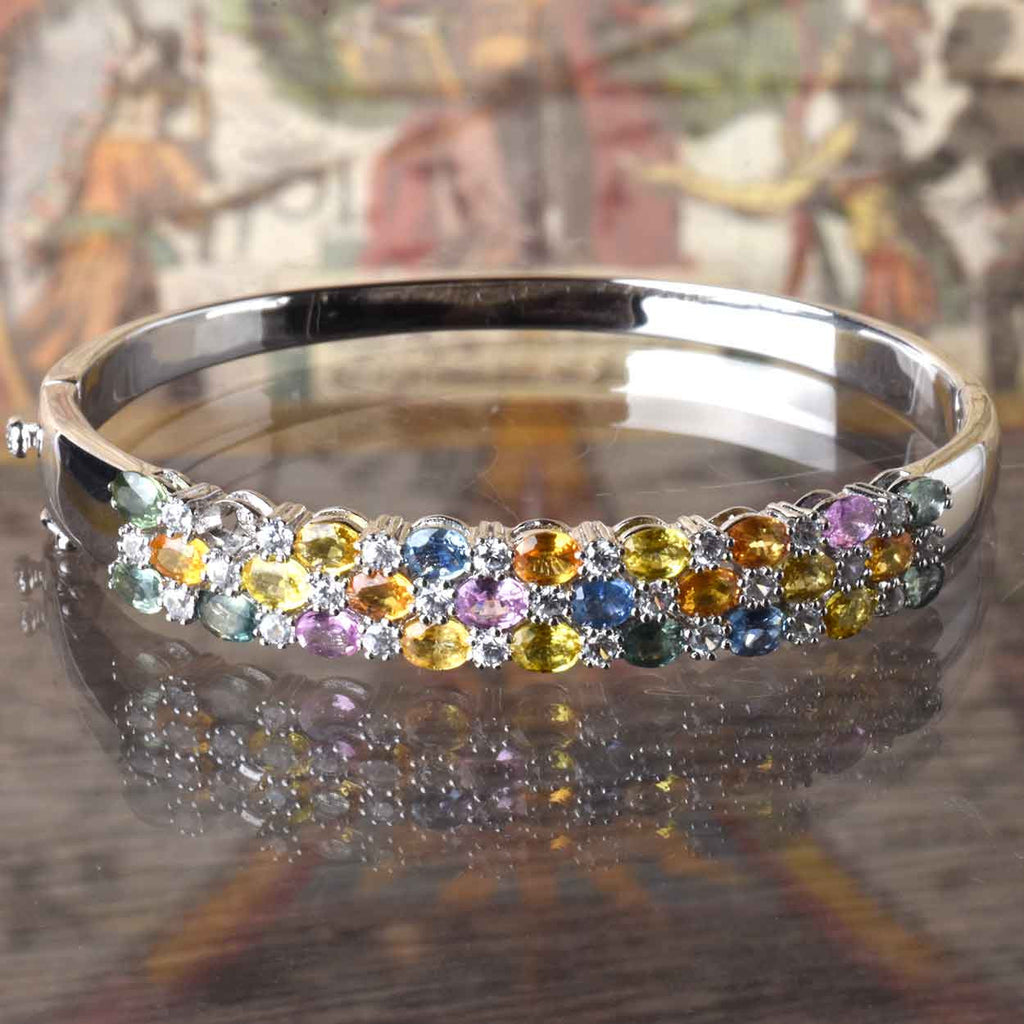 The Multi Color Sapphire Bangle