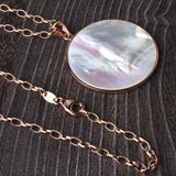 Round Mother Of Pearl Pendant with 36