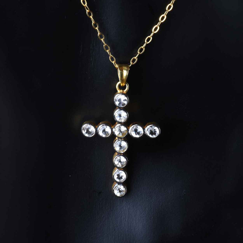 White Topaz Cross