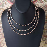 Brushed Teardrop Necklace with Hematite