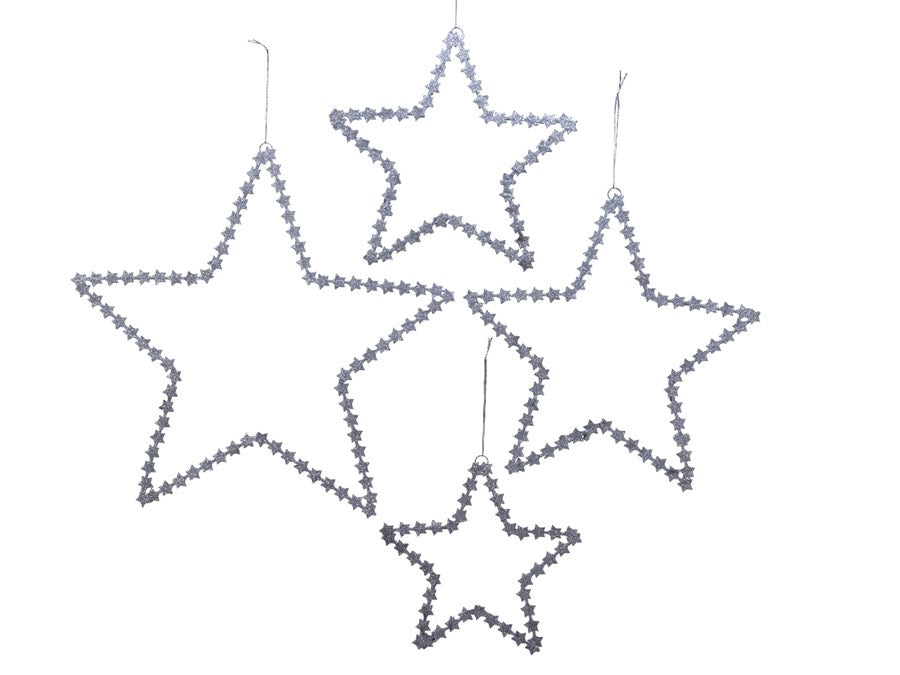 Set of 4 Silver Stars
