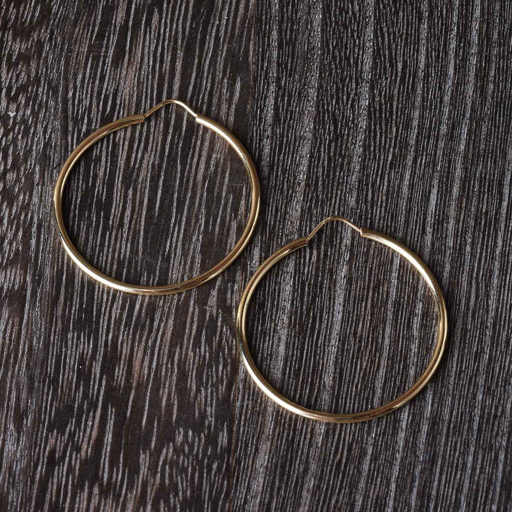 "1 1/4"" 14k Hoop Earrings"