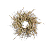 Natural Pepperberry With Cornhusk and Leaves Wreath